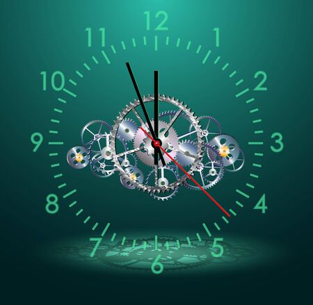 time clock mechanism, vector illustration, Vector
