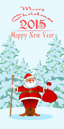 chistmas and new year greetin card, vector illustration Illustration