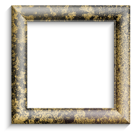 Vintage picture frame on white background Vector