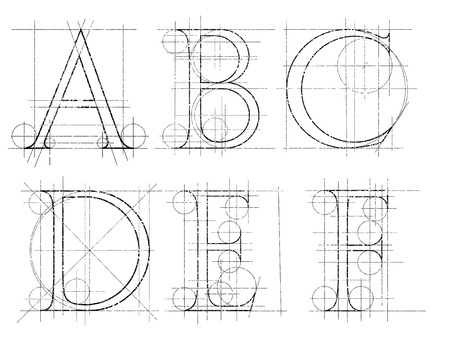alphabetical order: set of dekorative symbol , vector illustration, clip art