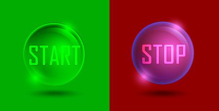 button set: Start-Stopp-Taste festlegen, Illustration Illustration
