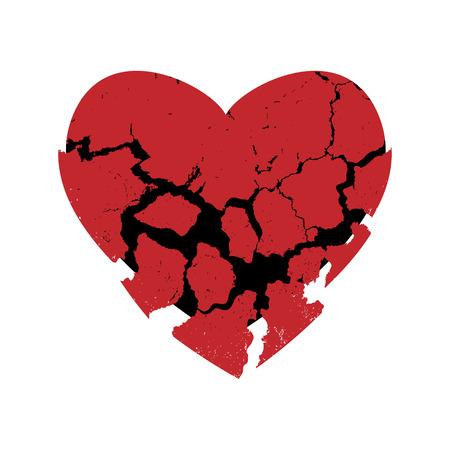 fragmentary: abstrackt coraz�n fragmentario, ilustraci�n vectorial