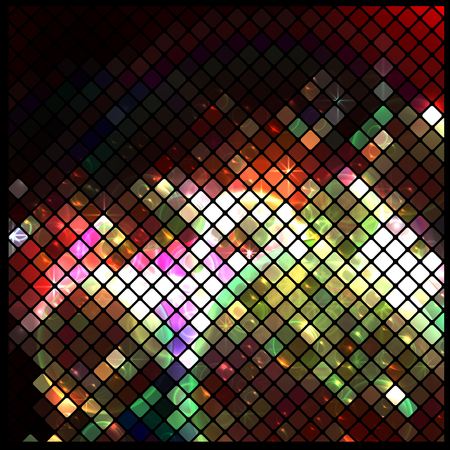 sieve: abstract mosaic background, vector illustration, clip art
