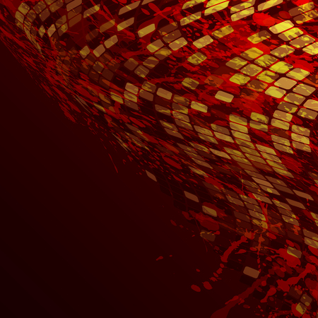 lighted: abstract mosaic background, vector illustration, clip art