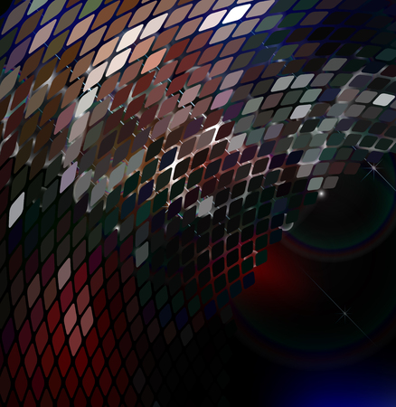 ilustration: abstract luminescent  background with effect bokeh