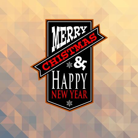 new year greeting: christmas and new year greeting card