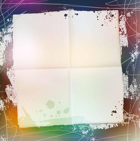 splattered: splattered grungy frame, vector illustration