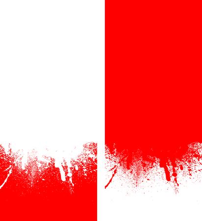 rad: white and rad spray background, illustration