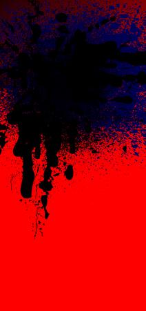 rad: black and rad spray background, illustration