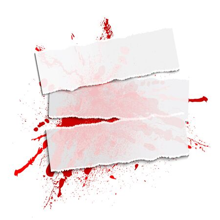 rad blot and paper on a white background, illustration clip-art