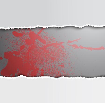 rad: rad blot and paper on a gray background, illustration clip-art