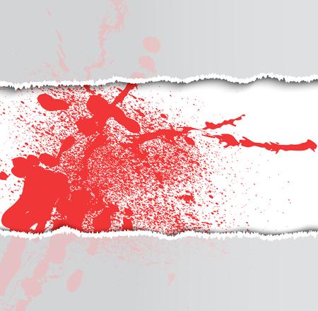 rad: rad blot and paper on a white background, illustration clip-art