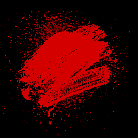 smudge: smudge and smear a rad brush on black background, illustration clip-art