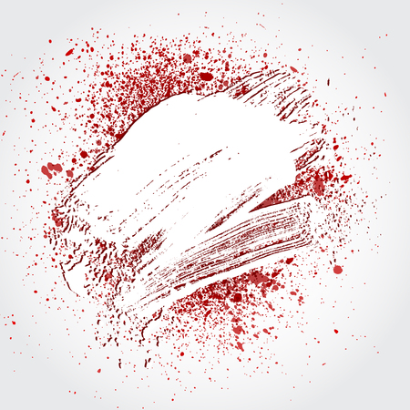 smudge: smudge and smear a white brush on white background, illustration clip-art