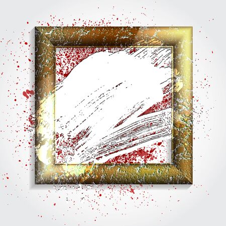 smudge: smudge and smear a brush in a frame, vector  background, illustration clip-art