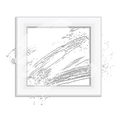 smudge: smudge and smear a brush in a frame, background, illustration clip-art