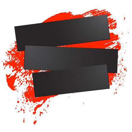 brushstroke and paper on a white background, illustration, clip-art