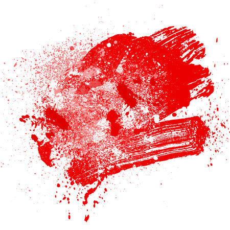 smudge and smear a rad brush on white background, illustration clip-art