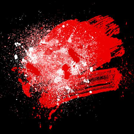 smudge and smear a rad brush on black background, illustration clip-art