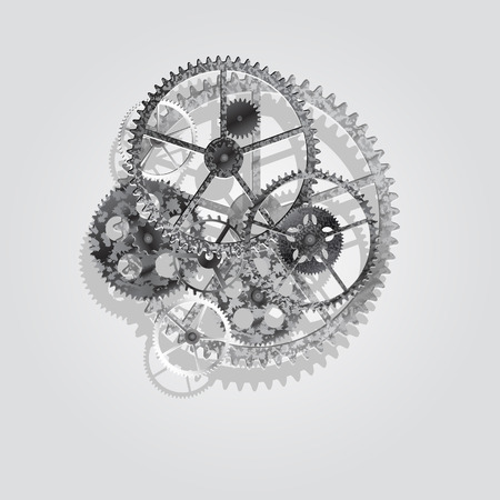 steel gears on a white background, vector illustration clip-art