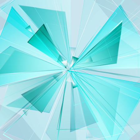 detonating fuse: collapsing abstract glass background, vector illustration clip-art