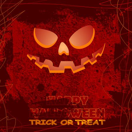 rad: halloween greeting card, vector illustration clip-art