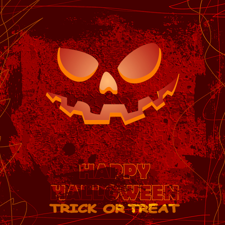 halloween greeting card, vector illustration clip-art