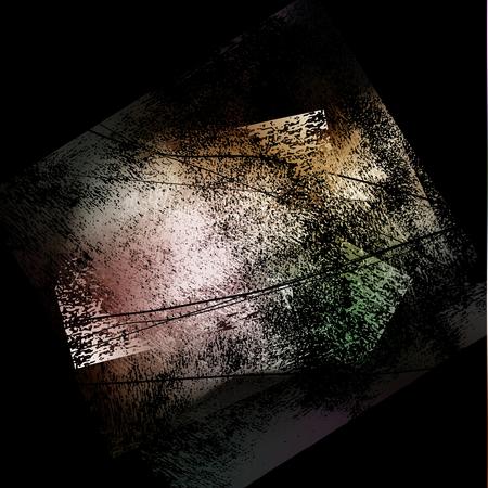 splattered: splattered black grungy background, vector illustration Illustration