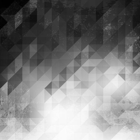 brain illustration: triangle grunge background, vector illustration clip-art