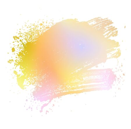 smudge: smudge and smear a colored brush on a white background, illustration clip-art