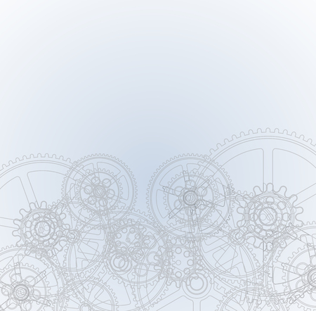 machinery: Drawing gears on a gray background, vector illustration clip-art Illustration