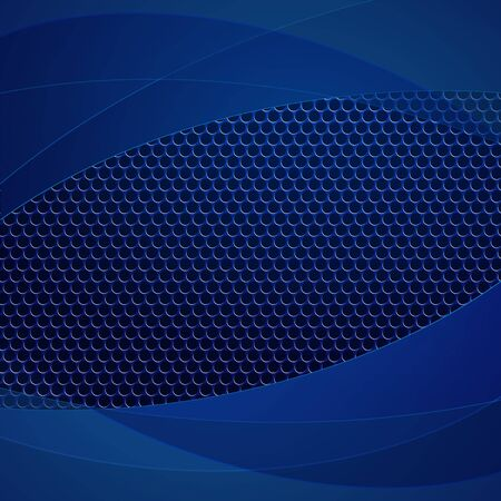 grille: Blue perforated pattern. Illustration