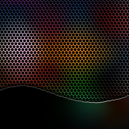 Abstract grunge perforated background, vector illustration clip-art Illustration