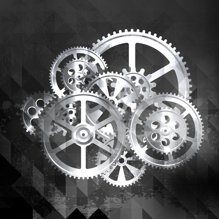 abstract grunge technology background, vector illustration clip-art