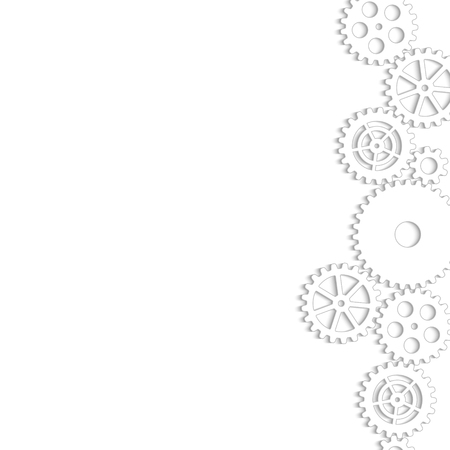 Drawing gears on a white background, vector illustration clip-art Çizim