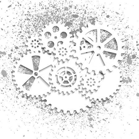 abstract mechanical background, illustratiun clip-art Vettoriali