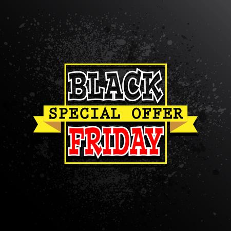 black friday sale background, vector illustration clip-art