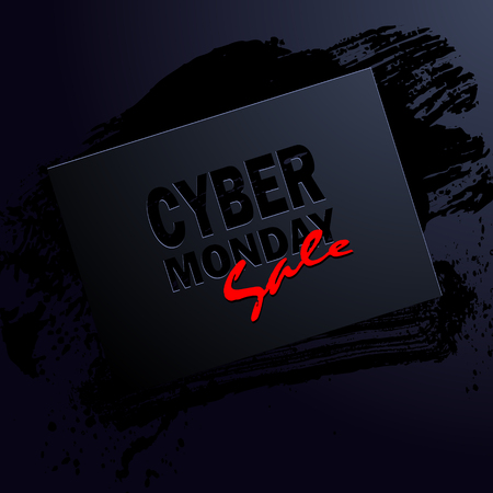 banner of cyber monday sale, illustration clip-art