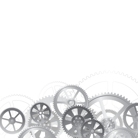 abstract mechanical background, illustration clip-art