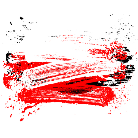 smudge and smear a color brush on a white background, illustration clip-art Çizim