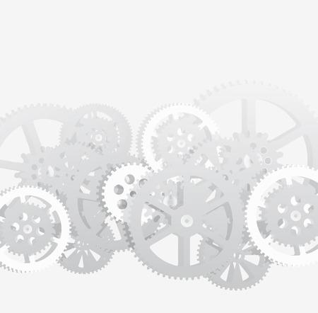 Dessin d'engrenages sur fond blanc, illustration vectorielle clip-art Vecteurs