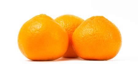 Ripe orange tangerines on a white background Reklamní fotografie