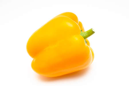 Yellow ripe bell pepper, sweet pepper on a white background