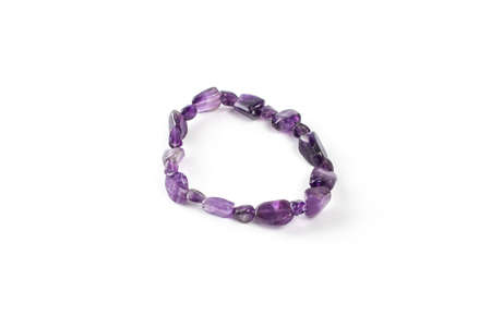 amethyst bracelet on a white background isolate