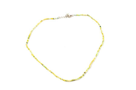 Natural Jade Beads On Isolate White Background