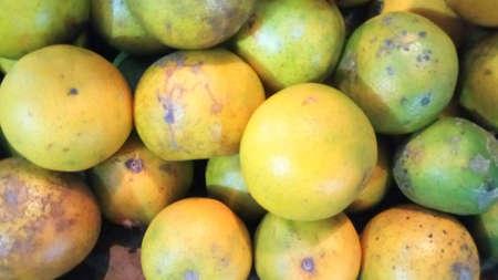 green and yellow citrus Stock Photo