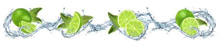 Limes mit Wasser übergossen