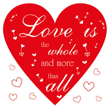 Love is the whole and more than all Illustration