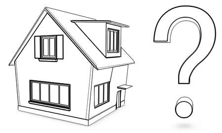house with question Stock Photo - 10730120