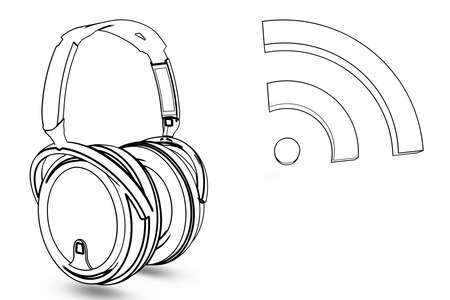 headphone with wireless